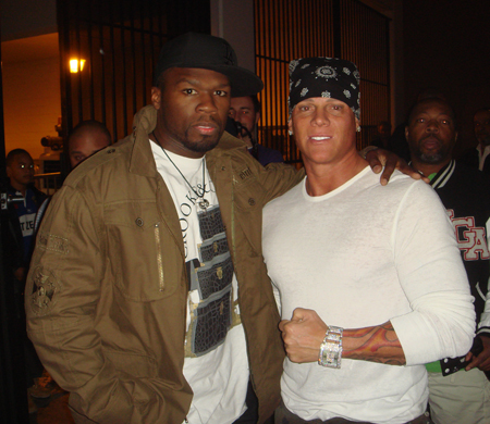 50 Cent and Johnny Brenden 11/14/2009