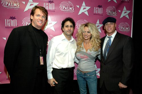 Trent Parks, George Maloof, Pamela Anderson and Johnny Brenden