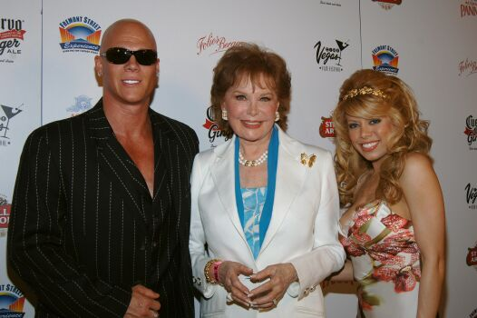 Johnny Brenden and Ms. Diva with Silver Screen Legend,  (also his Grandmother)  Rhonda Fleming