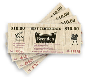 Gift certificate brenden theatres gift card negle Images