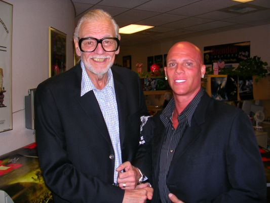 Johnny Brenden with Horror Film Legend, George A. Romero