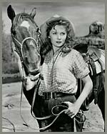 Johnny Brenden's Grandmother Rhonda Fleming plays the role of Candace Bronson opposite of Glen Ford in the 1951 American Civil War Saga