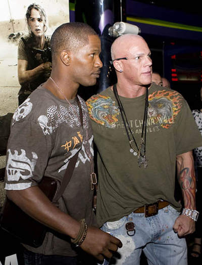 Johnny Brenden and Jamie Fox at the 2007 VMA's